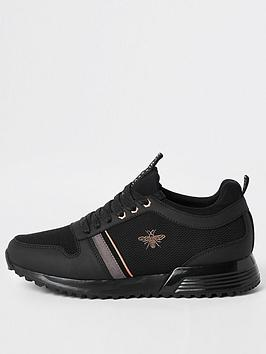 River Island River Island Black `Mcmlxxvi' Lace-Up Trainers Picture