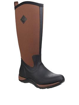 Muck Boots Muck Boots Arctic Adventure Wellington Boots - Black/Tan Picture