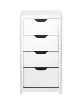 aspen-slim-4-drawer-chest-white-oak-effect