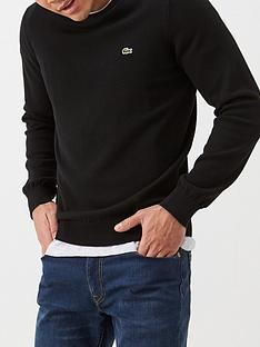 lacoste-sportswear-classic-crew-neck-knitted-jumper-black