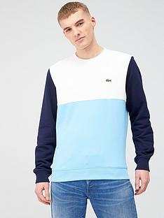 lacoste-sportswear-colour-block-sweatshirt-blue