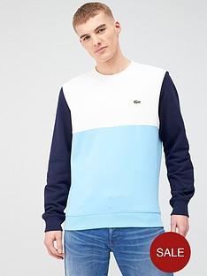 lacoste-sportswear-colour-block-sweatshirt-blue