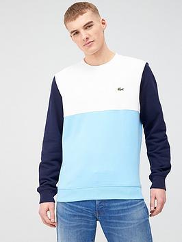 Lacoste Sportswear Lacoste Sportswear Colour Block Sweatshirt - Blue Picture