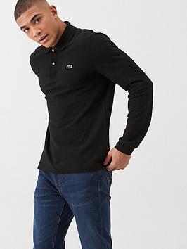 Lacoste Sportswear Lacoste Sportswear Classic Long Sleeve Pique Polo Shirt  ... Picture
