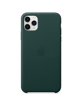 apple-iphone-11-pro-max-leather-case-forest-green
