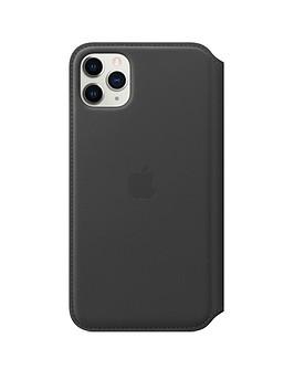 apple-iphone-11-pro-max-leather-folio-black