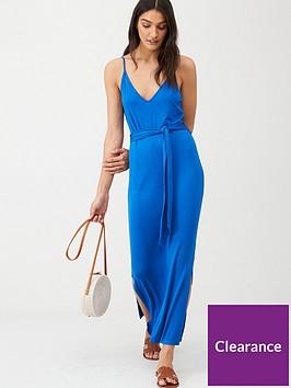 v-by-very-strappy-beltednbspmidi-dress-blue