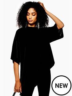 topshop-velvet-tunic-top-black