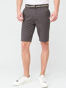 very-man-belted-chino-shorts-dark-grey