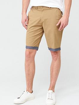V by Very V By Very Chino Chambray Roll Shorts - Tan Picture
