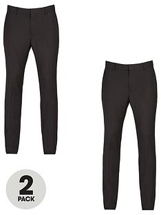 v-by-very-2-pack-skinny-trousers-black