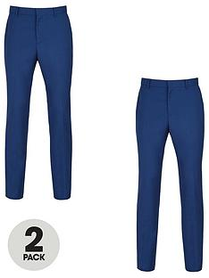 v-by-very-2-pack-slim-trousers-blue