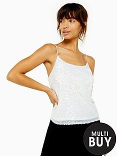 topshop-embelished-sequin-cami-white