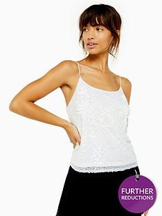 topshop-embellishednbspsequin-cami-white