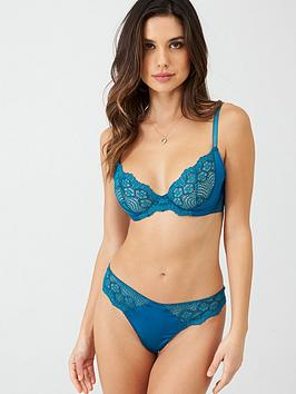 Ann Summers Ann Summers The Girl Boss Satin Thong - Teal Picture