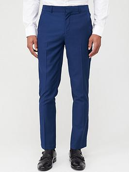 V by Very V By Very Stretch Slim Suit Trousers - Navy Picture