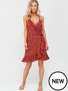 figleaves-mala-cami-midi-wrap-animal-print-dress-red