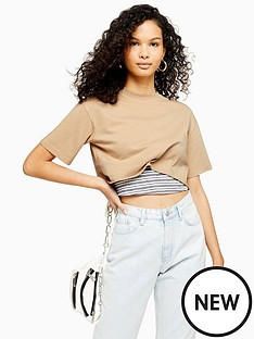 topshop-washed-crop-tee-stone