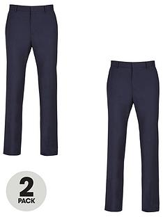 v-by-very-2-pack-regular-trousers-navy
