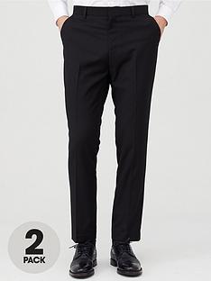 v-by-very-2-pack-slim-trousers-black