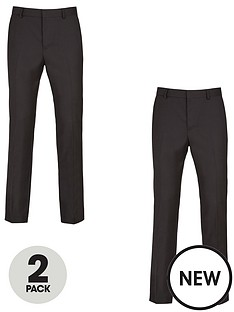 v-by-very-2-pack-regular-trousers-black