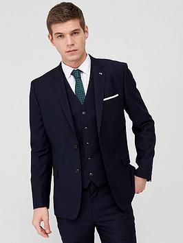 V by Very V By Very Stretch Slim Suit Jacket - Navy Picture