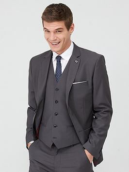 V by Very V By Very Stretch Slim Suit Jacket - Grey Picture