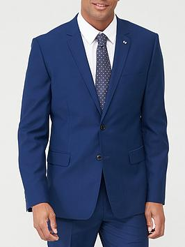 V by Very V By Very Stretch Slim Suit Jacket - Blue Picture