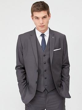 V by Very V By Very Stretch Regular Suit Jacket - Grey Picture