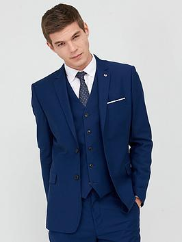 V by Very V By Very Stretch Regular Suit Jacket - Blue Picture