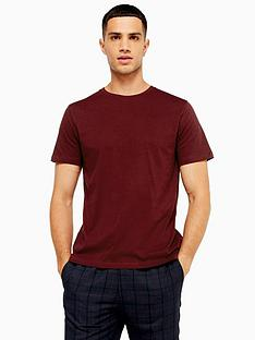 topman-topman-classic-crew-neck-t-shirt-burgundy