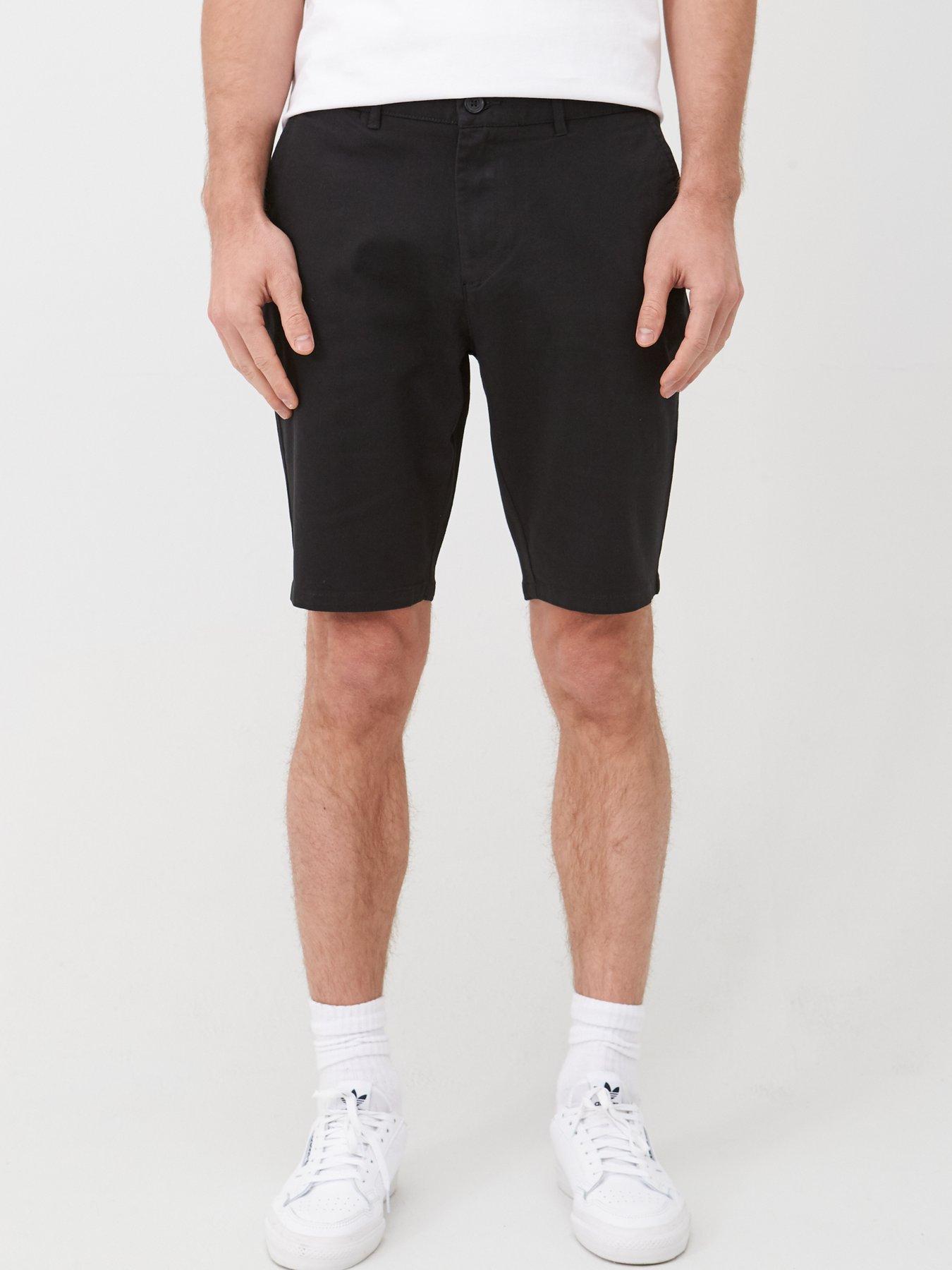 New Mens Hudson River Chino Brown Shorts Sz 33