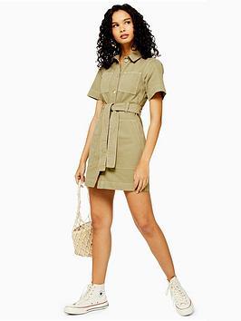 topshop-utility-mini-dress-khaki