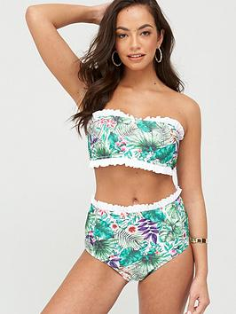 South Beach South Beach Nostalgia Tropical Print Bikini Set - Multi Picture