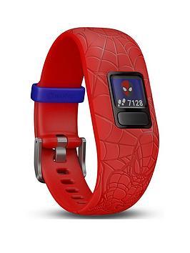 Garmin   Vivofit Jr. 2 - Marvel Spider-Man Fitness Activity Tracker For Kids - Adjustable Band - Red