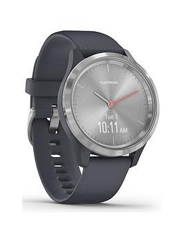 Garmin Garmin Vivomove 3S Hybrid Smartwatch - Granite Blue Silicone Strap  ... Picture