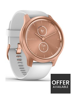 garmin-vivomove-style-hybrid-smartwatch-white-silicone-strap-with-rose-gold-hardware