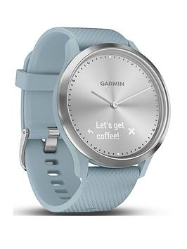 Garmin Garmin Vivomove Hr Hybrid Smart Watch - Silver With Seafoam Band Picture