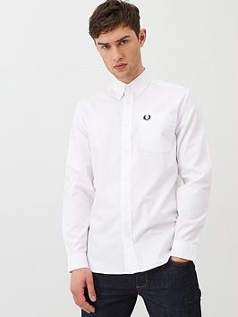 Fred Perry Fred Perry Long Sleeved Oxford Shirt - White Picture