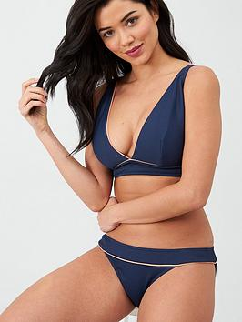Curvy Kate Curvy Kate Poolside Textured Triangle Bikini Top - Navy Picture