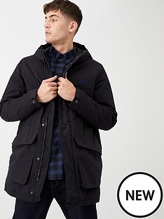 fred-perry-padded-hooded-jacket-black