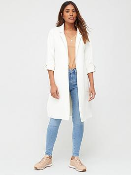 V by Very V By Very Suedette Chuck On Coat - Ecru Picture