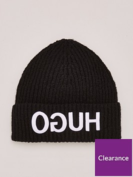 hugo-beanie-hat-black