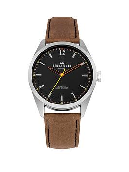 Ben Sherman Ben Sherman Ben Sherman Spitalfields Social Tan Leather Strap  ... Picture