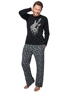 joe-browns-drippy-guitar-pyjama-set-black