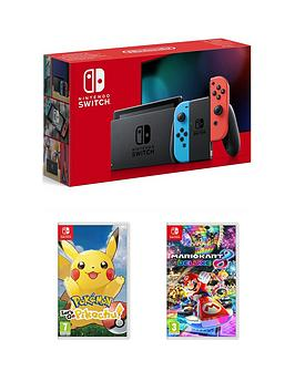 nintendo-switch-nintendo-switch-console-improved-battery-with-pokemon-lets-go-pikachu-and-mario-kart-8-deluxe