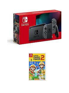 nintendo-switch-nintendo-switch-grey-console-improved-battery-with-super-mario-maker-2