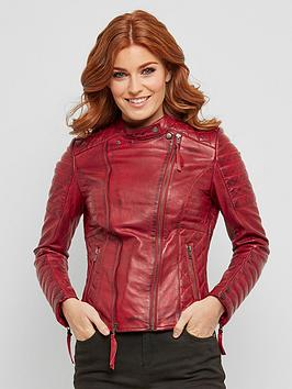Joe Browns Joe Browns Candid Quilted Leather Jacket Picture