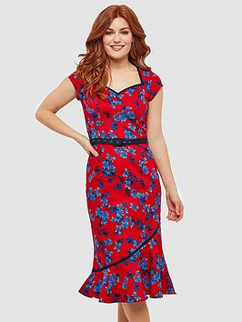 Joe Browns Joe Browns The Bop Floral Dress - Red Picture