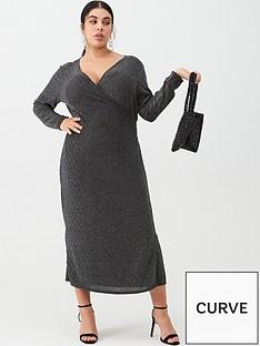 v-by-very-curve-metallic-midi-wrap-dress-silver-black